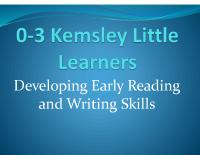 0-3 Kemsley Little Learners early literacy