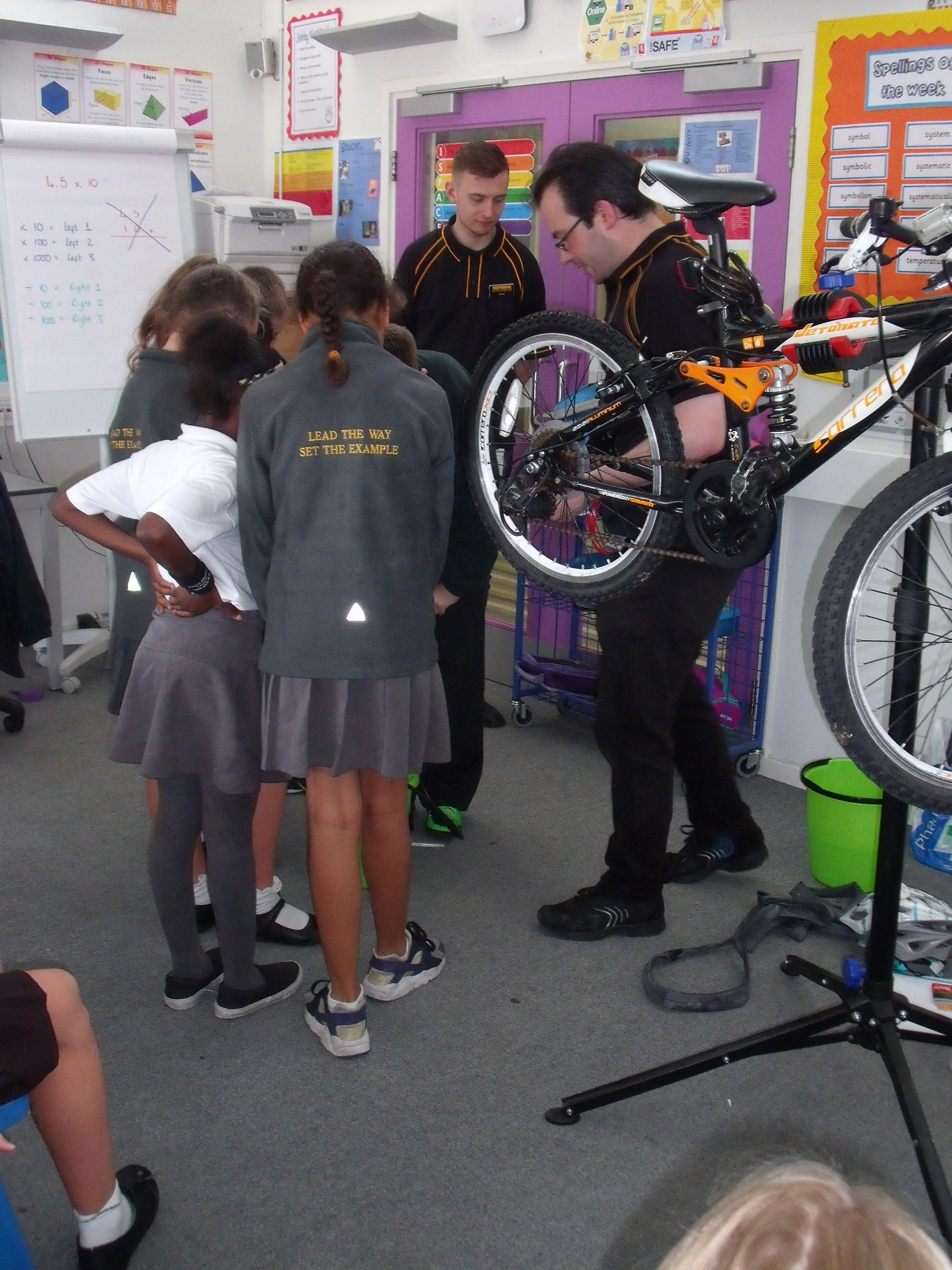 Halfords bike workshop - Kemsley Primary Academy