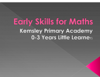 Early Skills for Maths