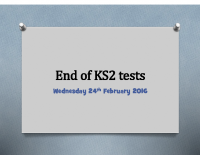 End of KS2 tests