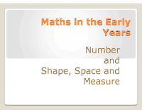 Maths in the Early Years